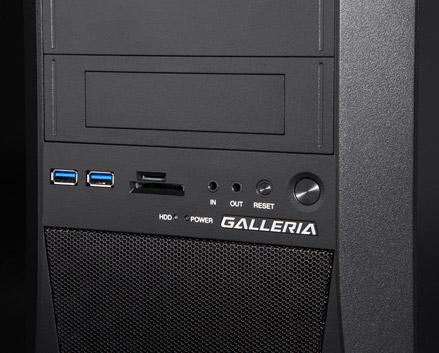 ガレリア XT(GALLERIA XT)は本格タワー型ゲームパソコン。本体の迫力も中々です